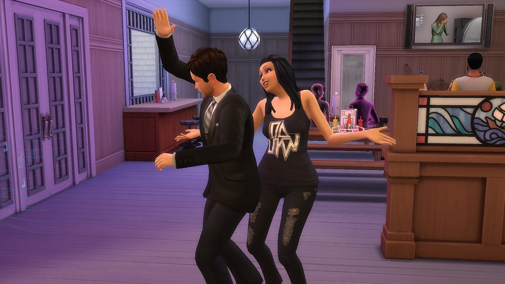 Me and Genevieve dancing