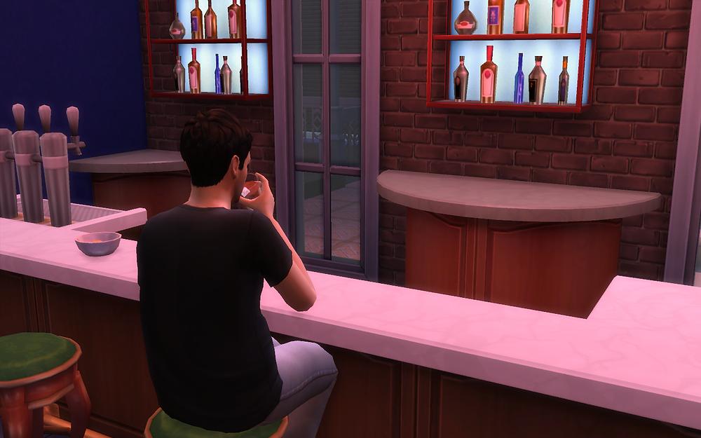 Drinking at the Blue Velvet