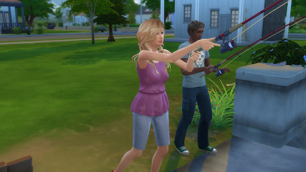 The Familiar Girl Likes Fishing
