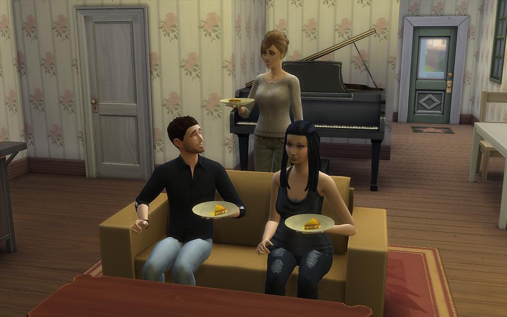 Me, Tara, and Genevieve Eating