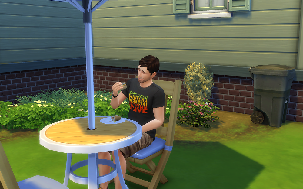Eating a Hot Dog