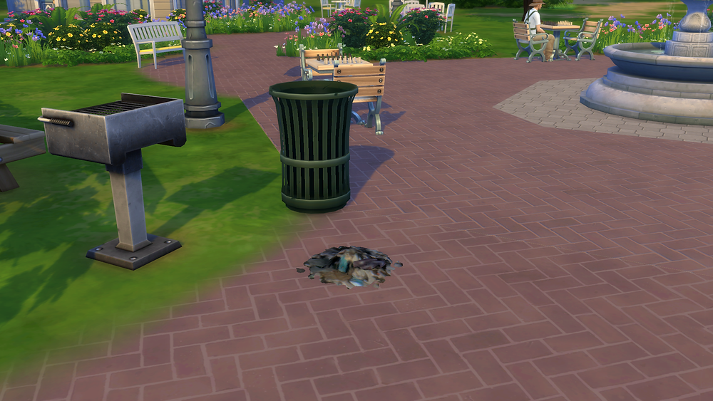 Trash All over the Ground
