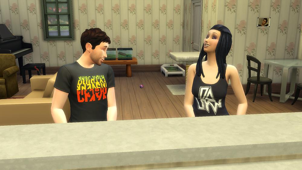 Joking around with Genevieve