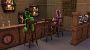 Ghosts sitting at the bar