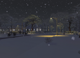 Beautiful Nighttime Wintry Scenery