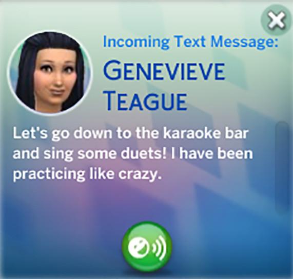 Genevieve's text
