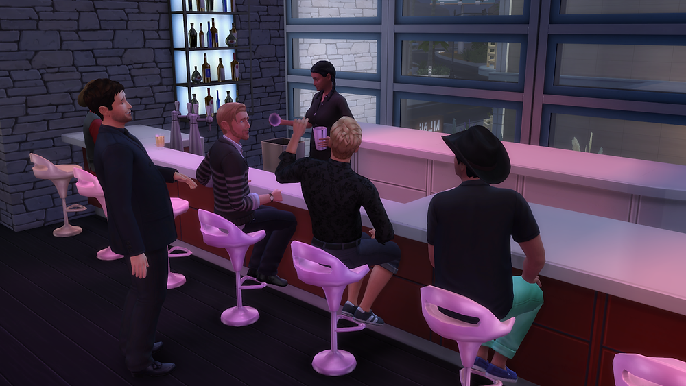 Chatting it up at the Bar