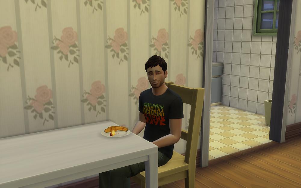 Eating Grilled Fruit