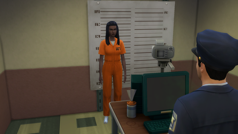Taking a Mugshot of the Suspect