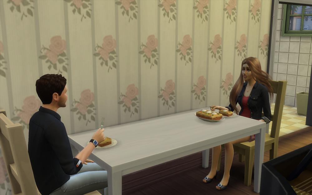Me and Tara Eating