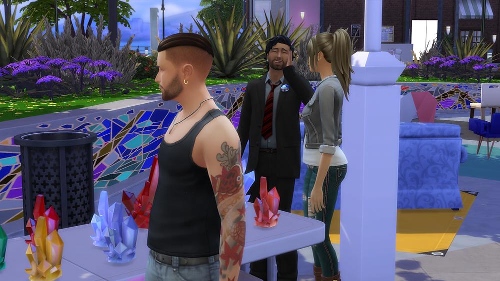 Me, Tara, and the salesman