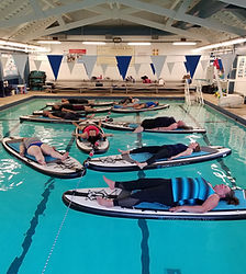 Pool Paddleboard yoga in North Bend, WA