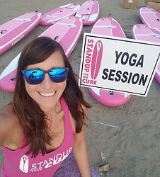 Paddling Yogini at StandUp for the Cure Seattle