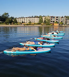 SUP Yoga on Kirkland at Juanita Beach Park