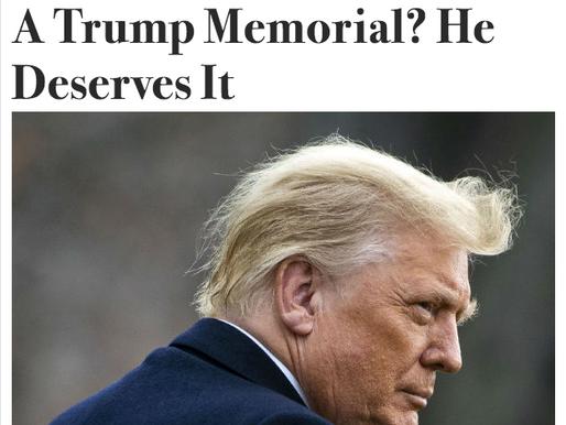 Ben Stein: Does Trump Deserve a Memorial