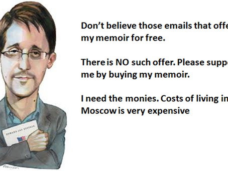 Email that offer Edward Snowden's memoirs for free contains malware