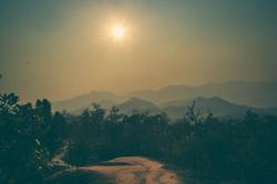 Hike Pai Canyon ridge at sunset
