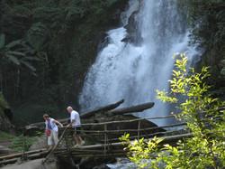 Trek through nature to waterfalls