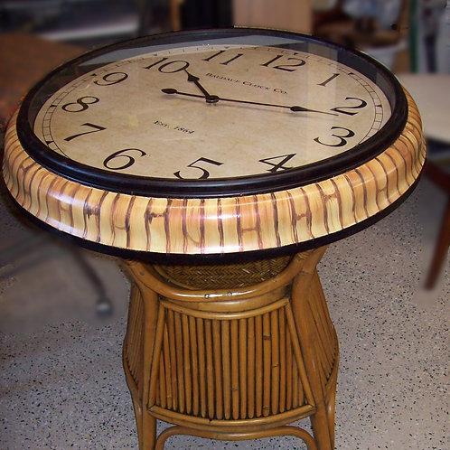 Rattan Clock Table