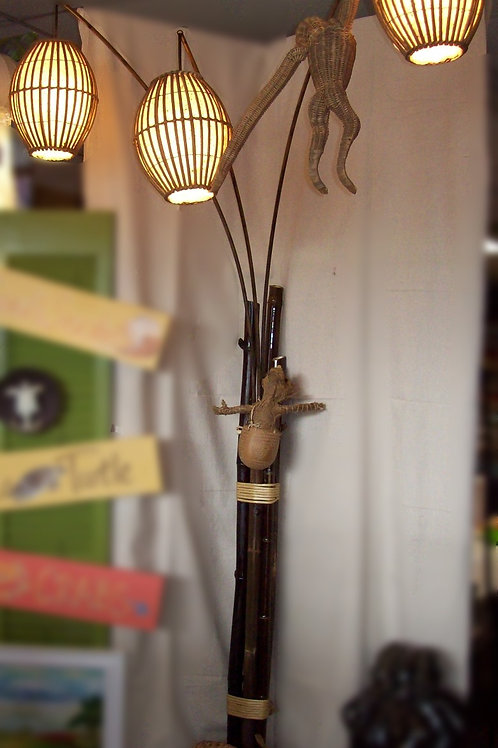 """Where are you?"" Monkey floor lamp"