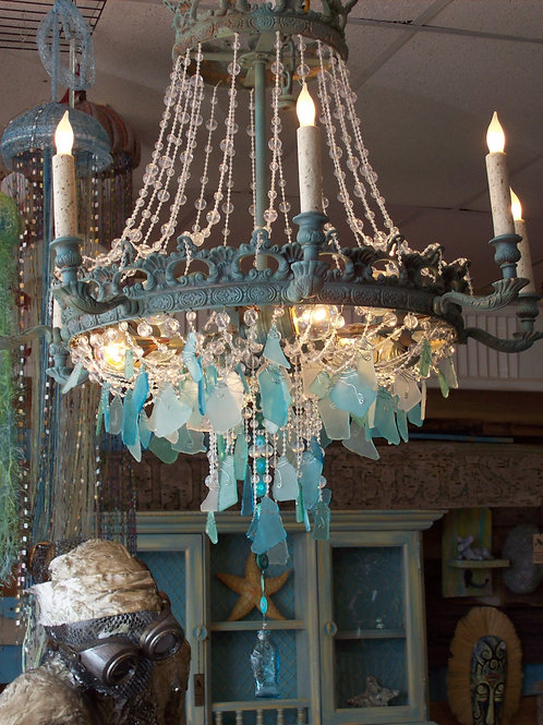 Seaglass Chandelier