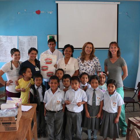 Our dental team visiting a local school