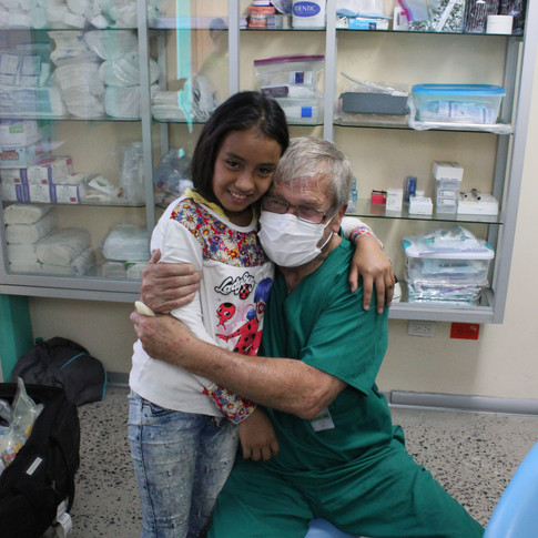 A very happy dental patient & dentist