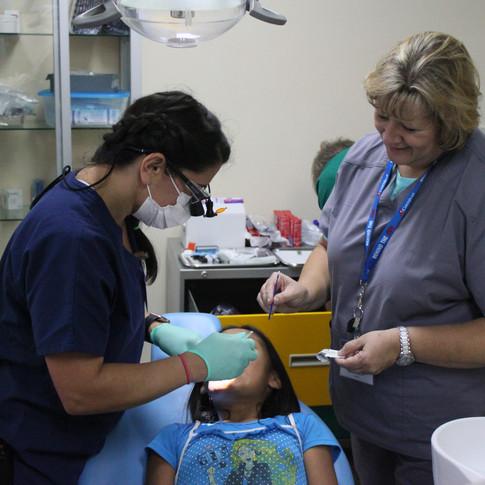 Our dental team at work