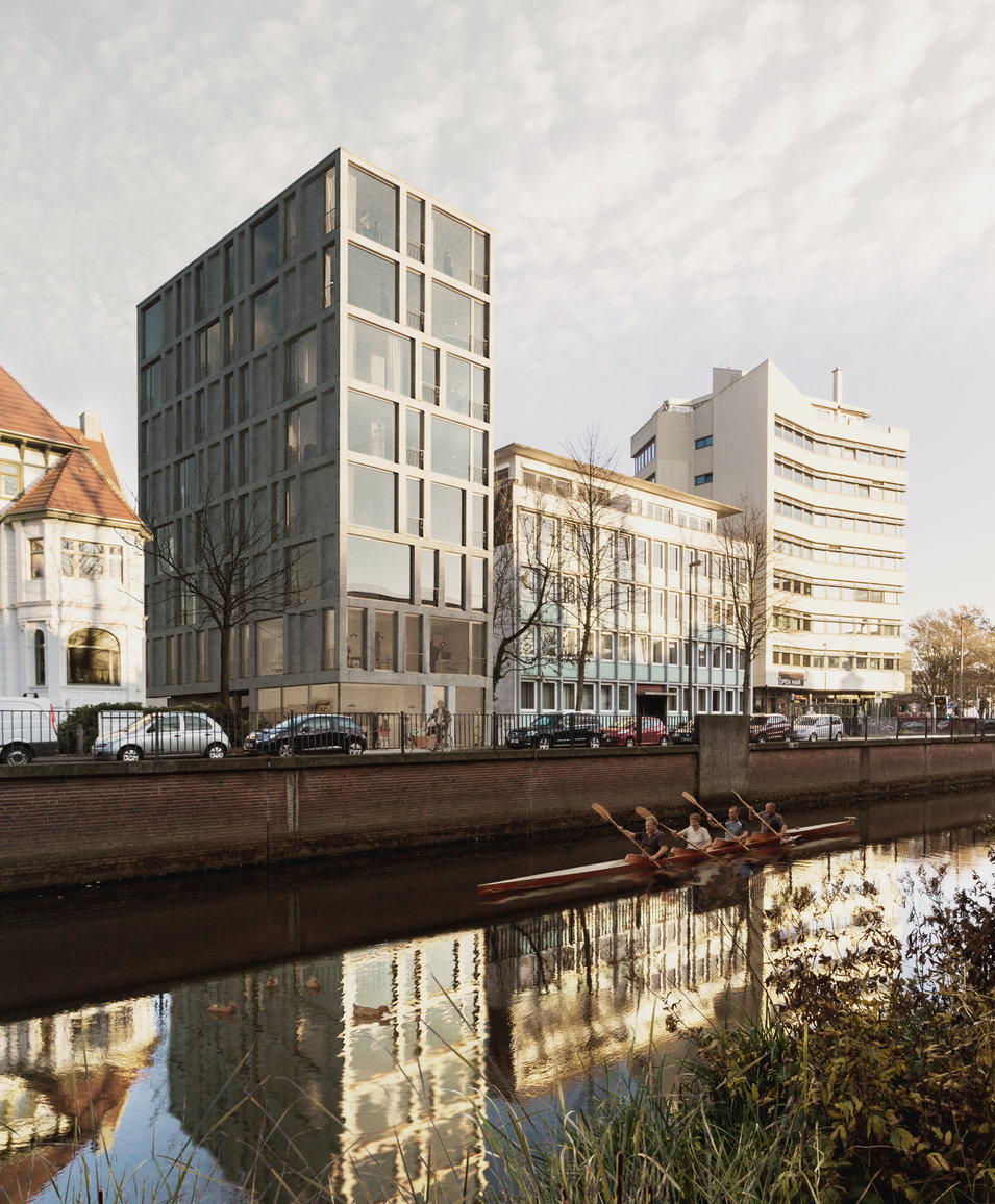 wohn & geschäftshaus am staugraben, oldenburg - braunlocher architekten
