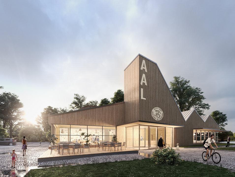 aal bruns fischrestaurante, bad zwischenahn - neun grad architekten