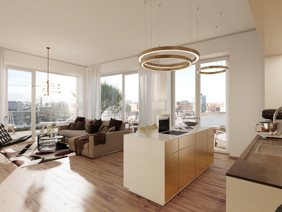 baufeld VIII, penthouse, kiel hörn - ppp architekten, ngeg