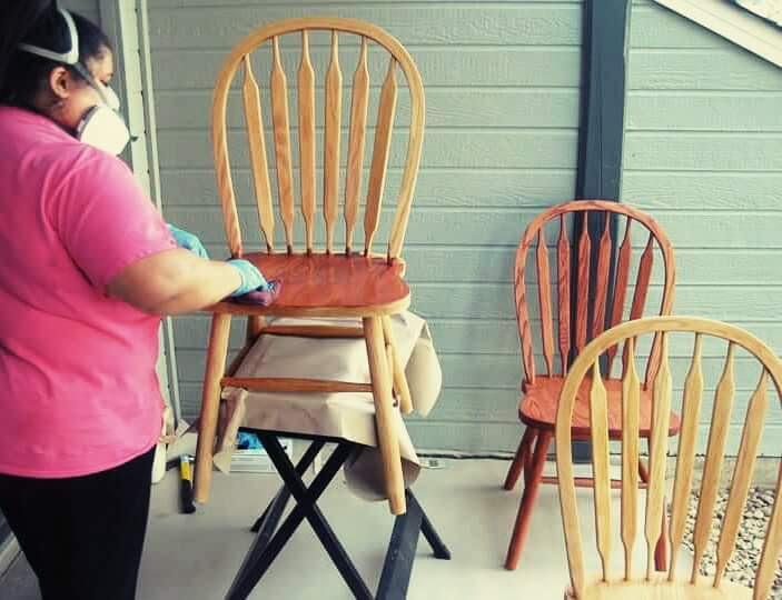 Katie Berglof - Wood Staining Furniture