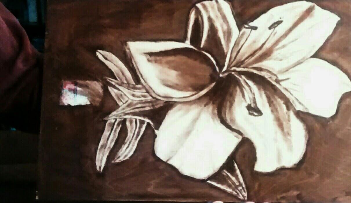 Katie Berglof - Wood Stain Art Practice