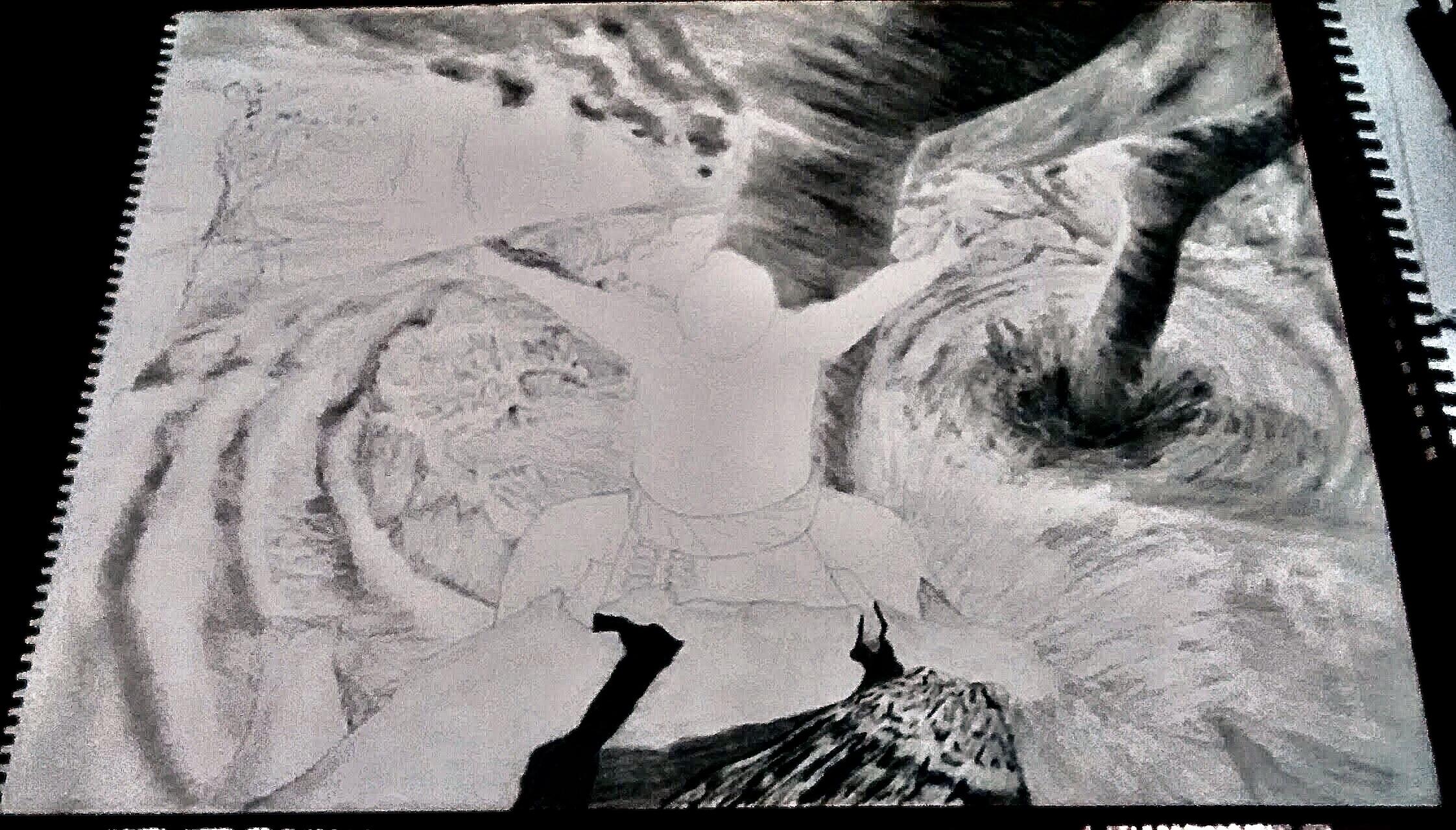 Katie Berglof - Commissioned Sumo Drawing Draft