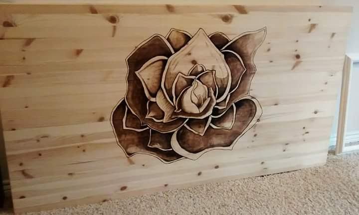Katie Berglof - Stain Art on Table Top