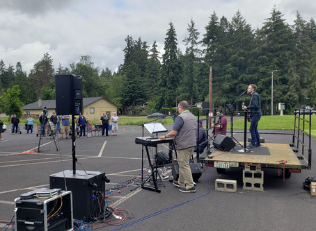 Our First Outdoor Service