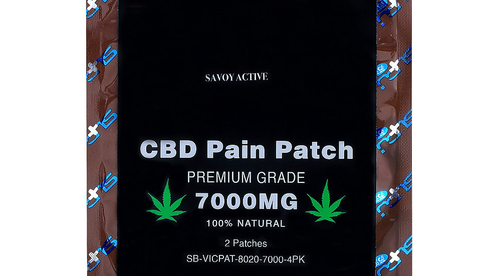 CBD Pain Patch - Premium Grade - 7000mg CBD - 100% Natural - Pack of 4 Patches