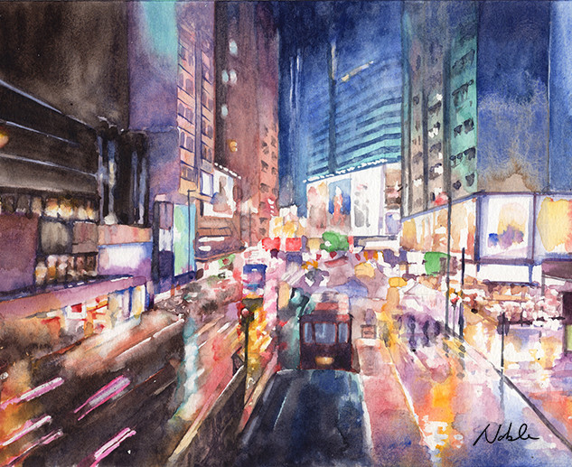 Causeway Bay rainy night