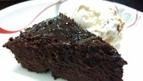 Chocolate brownies drunk on coffee