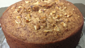 Eggless honey walnut spice cake