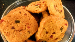 Eggless Tutty fruity cookies