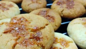 Eggless crispy Butterscotch cookies
