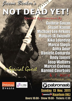 Jason Becker Not Dead Yet Festival Haarlem 2011 poster