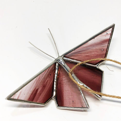 Red Violet Streaky Origami Butterfly - Ready to Ship