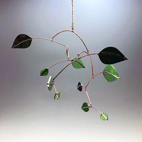 Medium Glass Leaves Mobile #2