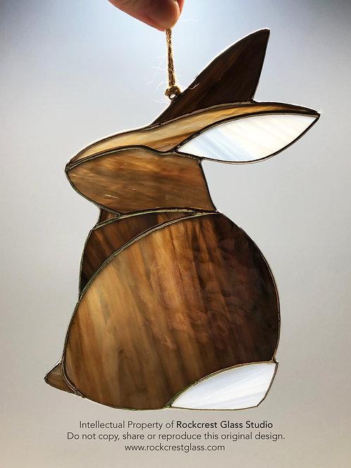 Brown Rabbit #2 Suncatcher