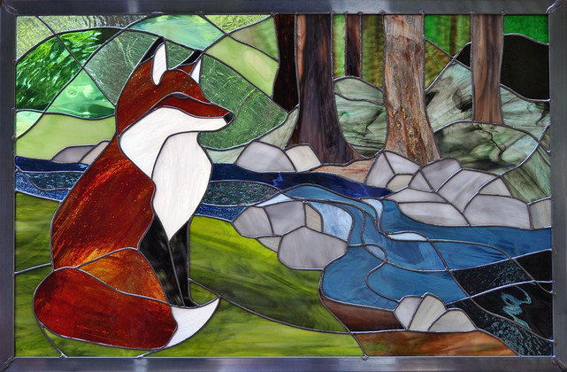 Backlit Fox and Stream