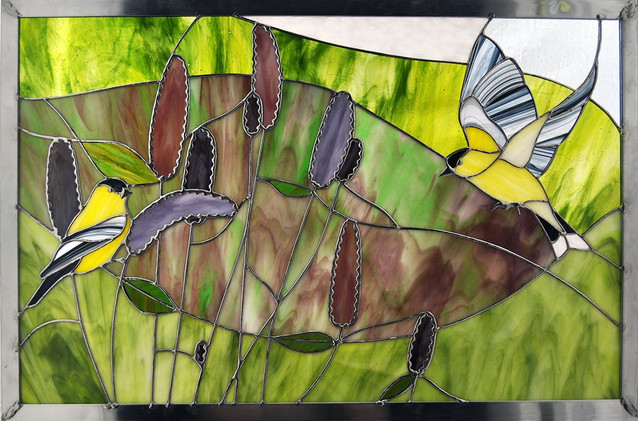 Goldfinches and Hyssop 2