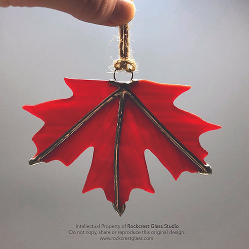 Minimal Red Maple Leaf #1