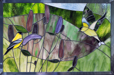 Goldfinches and Hyssop